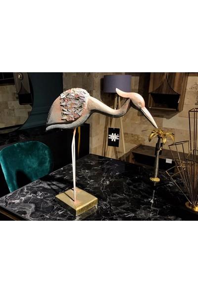Lucky Art Ahşap Flamingo Objesi