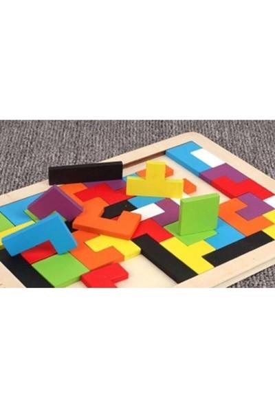 Türk Toys Türk Toysahşap Eğitici Bultak Tetris Puzzle Çocuk Oyuncağı