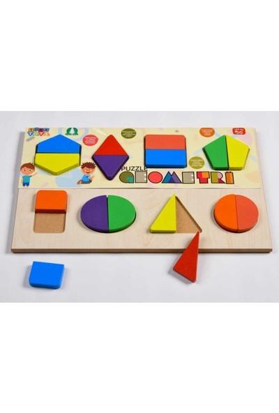 Türk Toys Türk Toysahşap Geometri Eğitici Bultak Puzzle Çocuk Oyuncağı