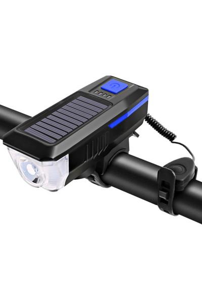 Buyfun Güneş Enerjili / USB Şarjlı Bisiklet Işığı (Yurt Dışından)