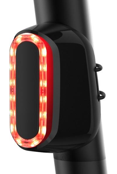 Buyfun Bisiklet Akıllı Algılama Fren Arka Lambaları USB Şarj (Yurt Dışından)