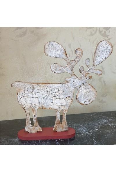 Markakanvas Dekoratif Yeniyıl,yılbaşı Geyik Süsü 25X23 cm