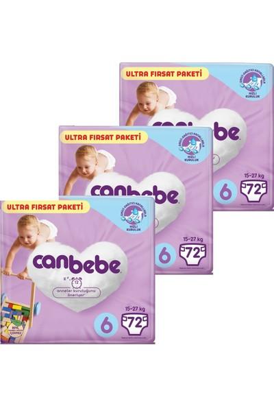 Canbebe Ultra Fırsat Paketi 6 Beden (72X3) 216 Adet