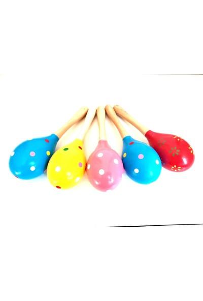 Ayas Eğitici Oyuncak Ahşap Renkli Marakas 5 Adet