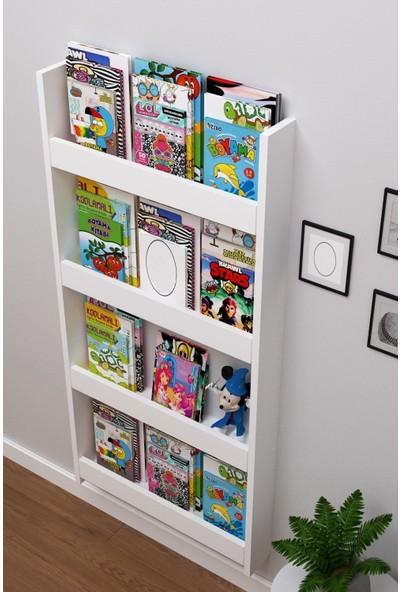 Berpa Home Berpahome Montessori Kitaplık Eğitici Çocuk Kitaplığı 4 Raflı