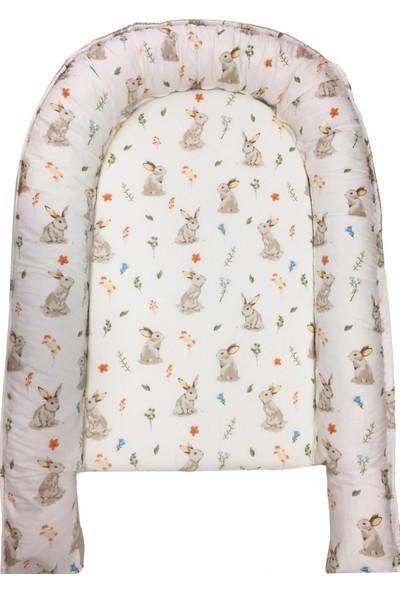 Bera Baby Rabbit Model Kılıflı ve Fermuarlı Babynest Bebek Yuvası