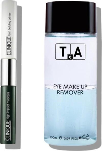 Clinique High Impact Maskara & Primer + Tekin Acar Make Up Göz Makyaj Temizleyici 150 ml