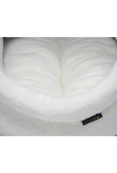 Zeepmax Alaska Kedi Köpek Yatağı Minderli Yumuşak Peluş Kedi Evi Yatak