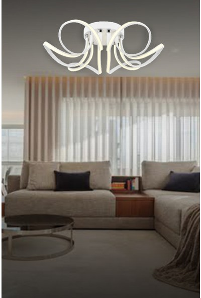 Luna Lighting Lunalighting Modern Beyaz LED Avize Plafonyer Ledli