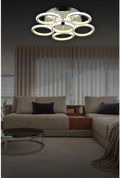 Luna Lighting LED Avize Ledli Plafonyer Avize Krom6 Lı