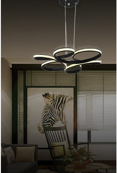 Luna Lighting Lunalighting Modern Siyah LED Avize Sarkıt Ledli