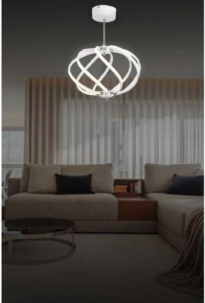 Luna Lighting Lunalighting Modern Beyaz LED Avize Sarkıt Ledli