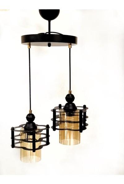 Luna Lighting Modern Siyah 2li Sarkıt Avize