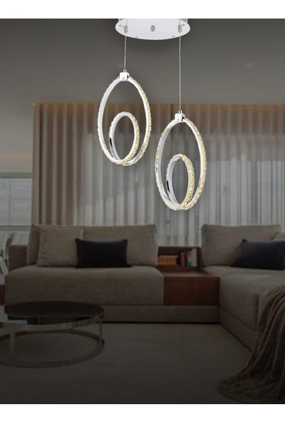 Luna Lighting Modern LED Avize Sarkıt Ledli Avize