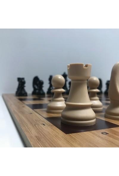 Yeni Satranç Profesyonel Satranç Taşları ( 95 mm ) - Mdf Zemin