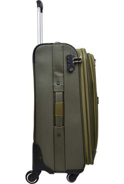 Anka Travel Polo Lüx Kumaş 3'Lü Valiz Seti Yeşil