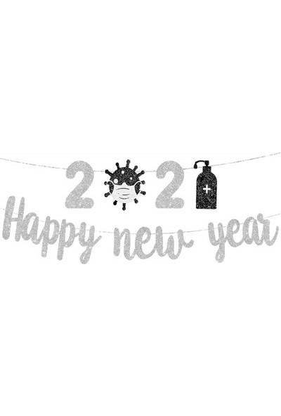 Partifabrik Yılbaşı New Year Temalı Gümüş Banner