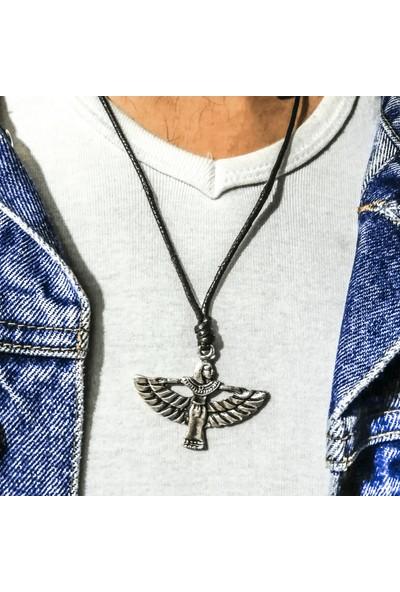 Spdesgns Jewelry Ahura Mazda Trend Kolyesi Gümüş Renk