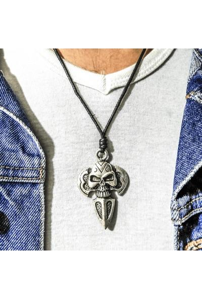 Spdesgns Jewelry Balta Kurukafa Erkek Kolyesi Gümüş Renk