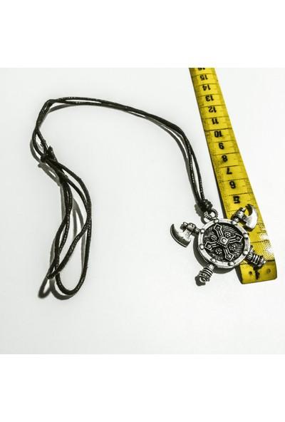 Spdesgns Jewelry Baltalı Kalkan Erkek Kolyesi Gümüş Renk