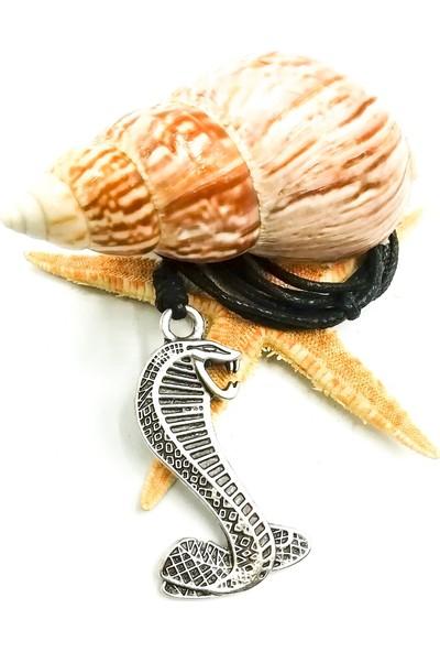 Spdesgns Jewelry Çöl Kobrası Erkek Kolyesi Gümüş Renk