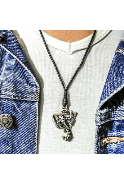 Spdesgns Jewelry Çöldeki Akrep Erkek Kolyesi Gümüş Renk