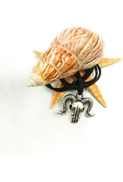 Spdesgns Jewelry Koç Başı Erkek Kolyesi Gümüş Renk
