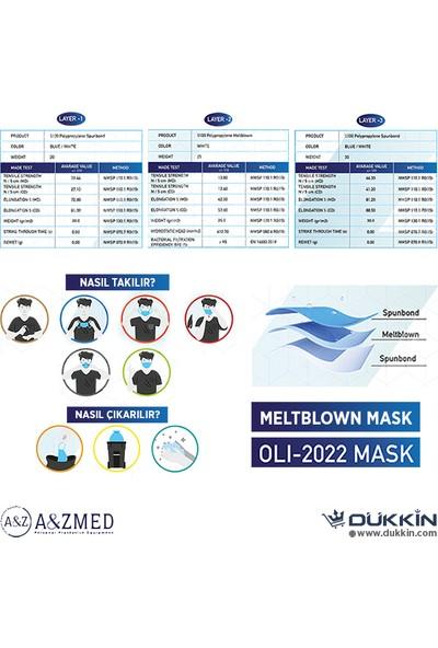 A&Z Med A&zmed N95 Ffp2 Maske Telli ve Tek Tek Paketli 10 Adetlik 1 Kutu - Toplam 10 Adet Maske