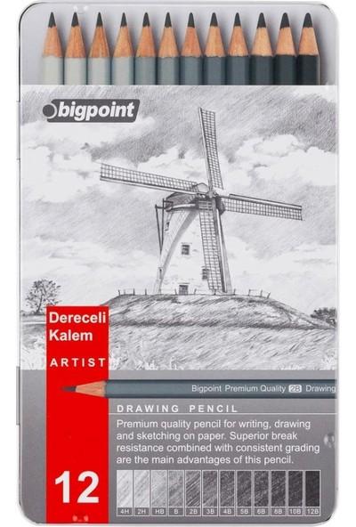 Bigpoint Dereceli Kalem Karakalem Eskiz Çizim Seti 12'li
