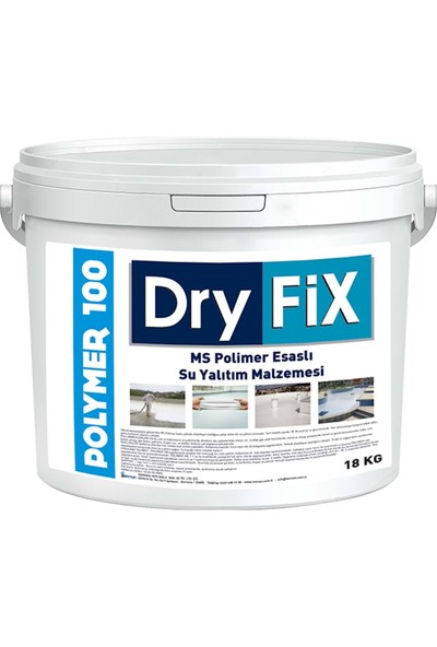 Dryfix Polymer 100 Ms Polimer Su Yalıtımı Şeffaf 18 kg