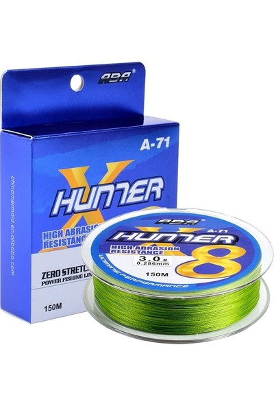Aba Hunter 8 Kat Örgü Ip Misina 150 mt 0.16 mm Yeşil
