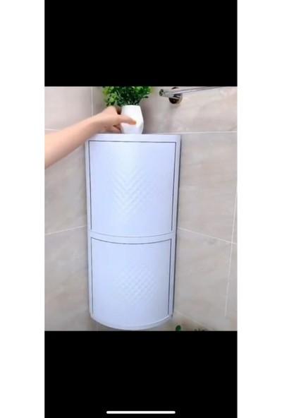 HEPSİUCUZ 360 Derece Dönen 2 Katlı Banyo Mutfak Dolabı