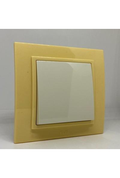 Elbi Zena Anahtar Çerçeveli Açık Sarı Renkli