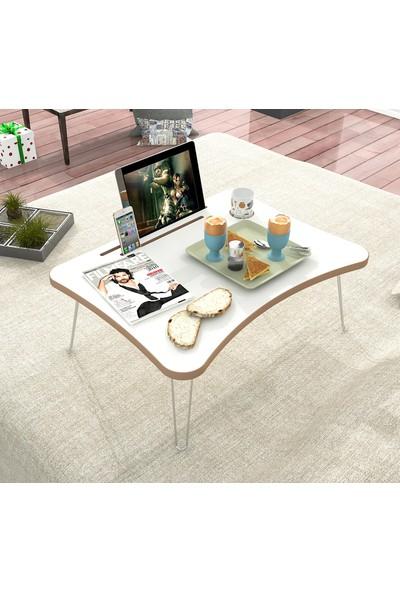 2K Mobilya Maya Katlanır Laptop Sehpa Çalışma Kahvaltı Masası