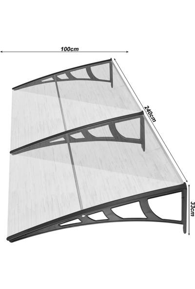 Gardenplast Kapı Üstü Pratik Sundurma 100X240 cm - Bronz