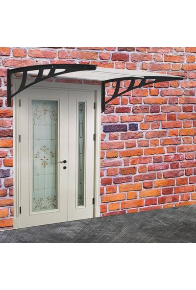 Gardenplast Kapı Üstü Pratik Sundurma 100X120 cm - Şeffaf