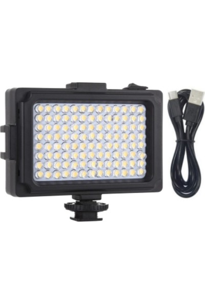 3E1A Video LED Işık 104LED Type-C ile Sürekli Çalışma Ekstra 2 Kızaklı + Mini Tripodlu
