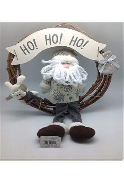 Cakes Party Noel Baba Temalı Çelenk Kapı Süsü