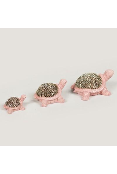 Berk Hediyelik Dekoratif Kağlubağa 3'lü Pembe