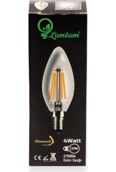 Heka LED Filament Ampul 4 W E14 Gün Işığı - Dimmerli
