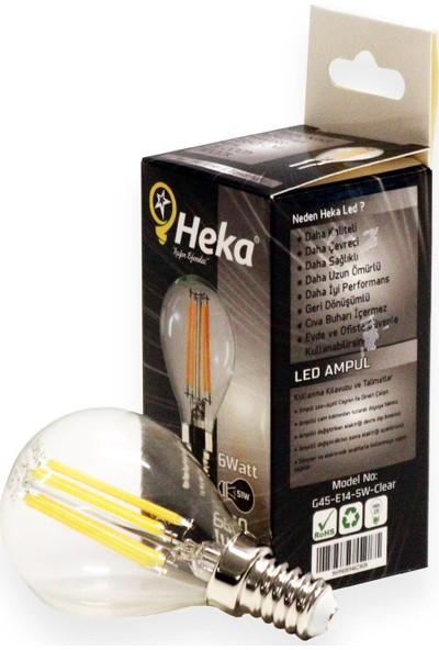Heka LED Flament LED Ampul 6 W E14 Gün Işığı