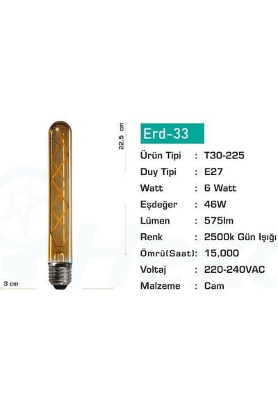 Heka LED Filament Rustik Ampul 6 W E27 Gün Işığı