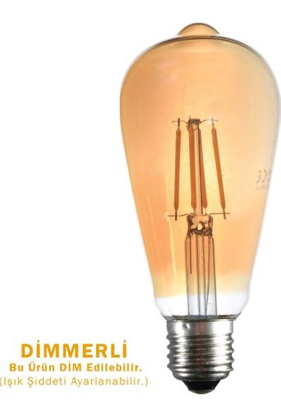 Heka LED Filament Ampul 4 W E27 Gün Işığı - Dimmerli
