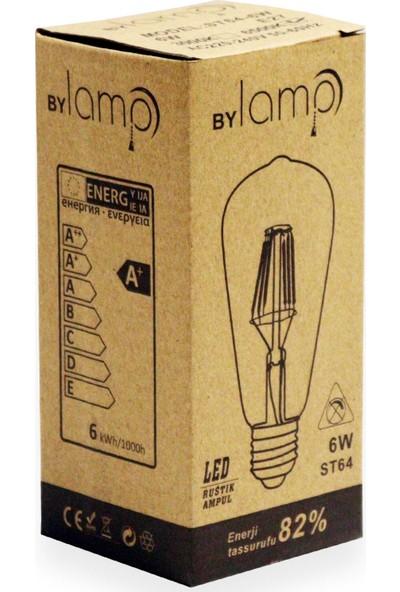Heka LED Rustik Ampul Şeffaf 6 W E27 Beyaz Işık