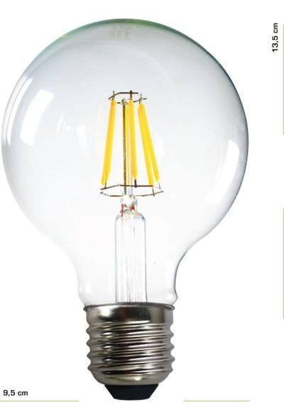 Heka G95 Filament Edison Tip Rustik LED Ampul 6 Watt E27 Gün Işığı
