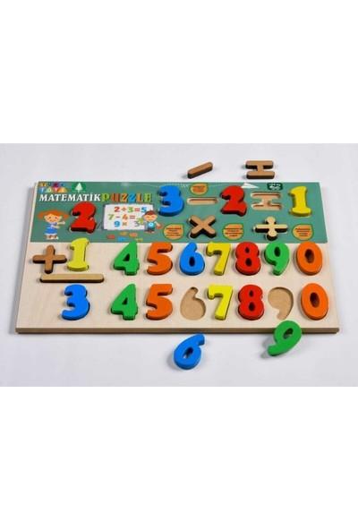 Türk Toys eğitici Ahşap Matematik Puzzle Set