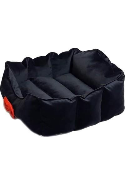 Catyat Iç Mekan Köpek Yatağı Minderi Evi Siyah Renk Medium (Orta Irklar Için)