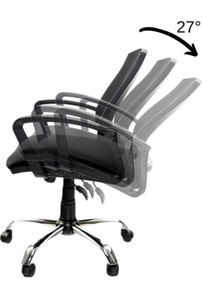 Grey Ev Ofis Çalışma Sandalyesi Bilgisayar Koltuğu