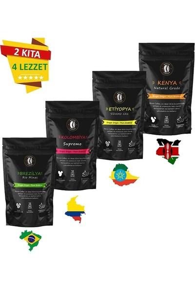 Resso Coffee 2 Kıta 4 Lezzet French Press 125 gr x 4