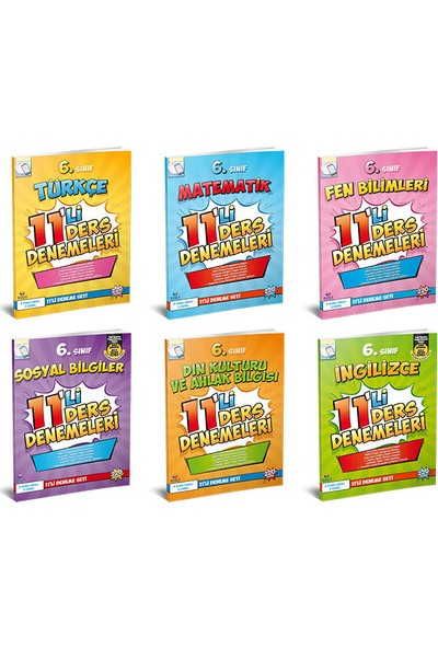 Koza Karaca Yayınları 6. Sınıf 11'li Ders Denemeleri Seti
